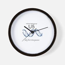 U5 First Europeans Wall Clock