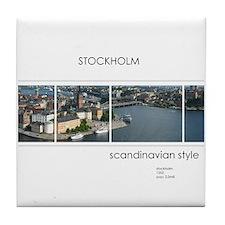 Stockholm souvenirs Tile Coaster