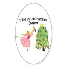 Nutcracker & Clara Oval Decal