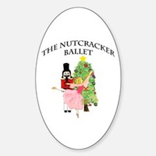 Clara and her nutcracker gift Oval Decal