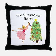 Nutcracker & Clara Throw Pillow