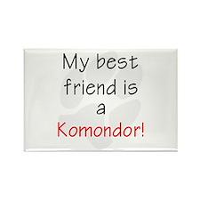 My Best Friend is a Komondor Rectangle Magnet