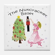 Nutcracker Christmas Tile Coaster
