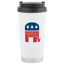 GOP Christian Values Travel Mug
