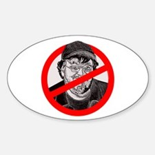 No More Michael Moore Oval Decal
