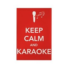 Keep Calm & Karaoke Rectangle Magnet