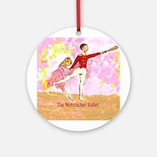 Clara and Nutcracker Ornament (Round)
