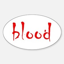 Blood Oval Decal