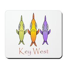 Key West 3 Fishes Mousepad