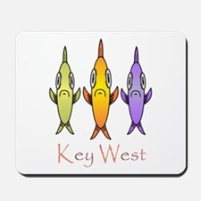 Key West 3 Fishes Mousepad