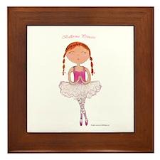 Ballerina Charlotte Framed Tile