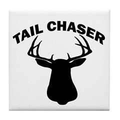 TAIL CHASER Tile Coaster
