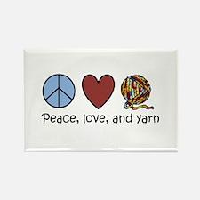 Unique Peace love knit Rectangle Magnet
