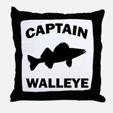 CAPTAIN WALLEYE Throw Pillow