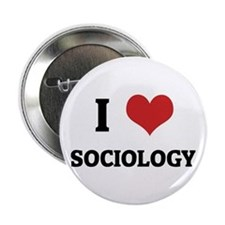 I Love Sociology Button