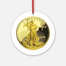 American Gold Eagle Ornament (Round)