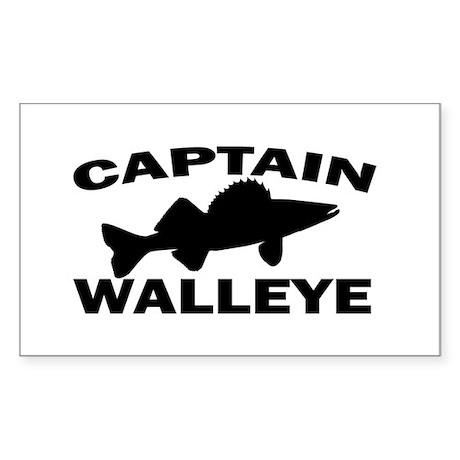 CAPTAIN WALLEYE Rectangle Sticker