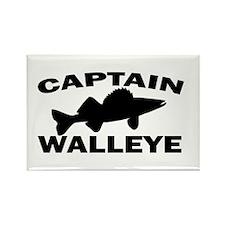 CAPTAIN WALLEYE Rectangle Magnet
