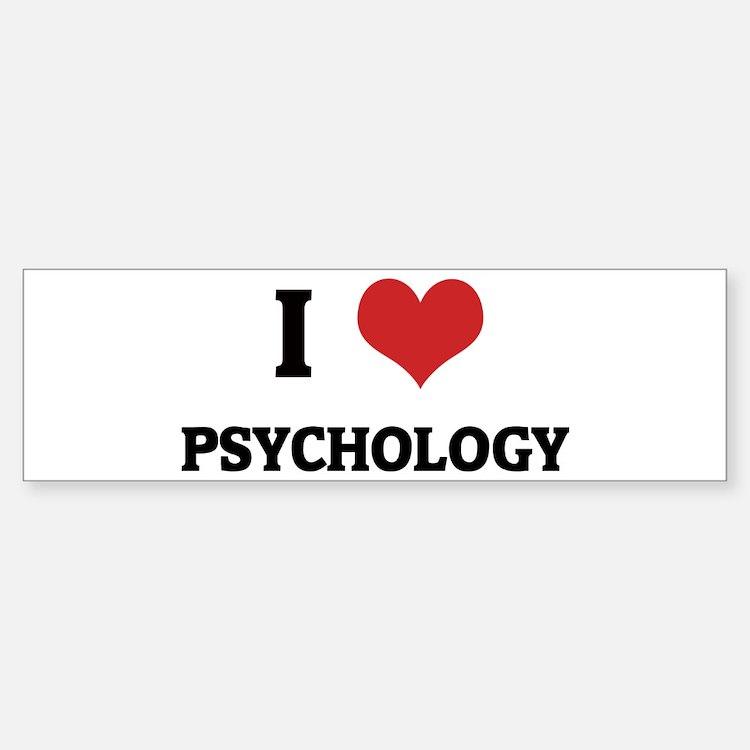 I Love Psychology Bumper Bumper Bumper Sticker