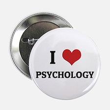 I Love Psychology Button