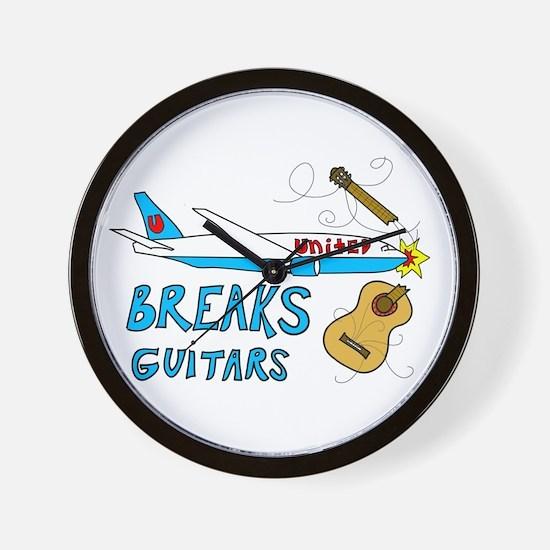 United Breaks Guitars! Wall Clock