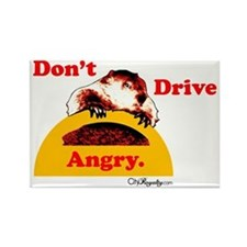 Don't Drive Angry Rectangle Magnet