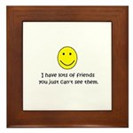 I have lots of friends Framed Tile