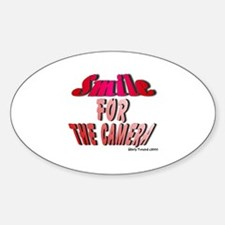 """""""Smile For The Camera"""" Oval Decal"""
