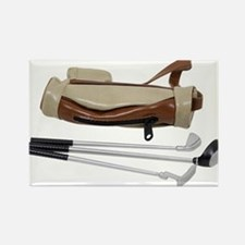 Golf Bag and Clubs Rectangle Magnet