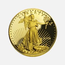 "American Gold Eagle 3.5"" Button"