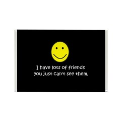 I have lots of friends Rectangle Magnet (100 pack)
