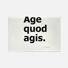 """Age Quod Agis"" (""Do What You Are Doing"") Rectangl"