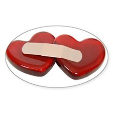 Healing Hearts Oval Decal