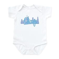 Chicago Light Blue Script in Skyline Infant Bodysu