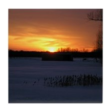 Winter Sunset 0246 Tile Coaster