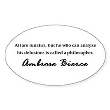 Bierce Philosophers Oval Decal