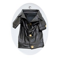 Leather Coat Oval Ornament