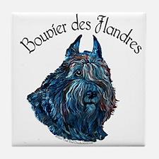 Bouvier des Flandres Black Tile Coaster
