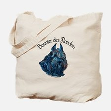 Bouvier des Flandres Black Tote Bag