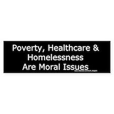 Moral Issues Bumper Sticker (black)
