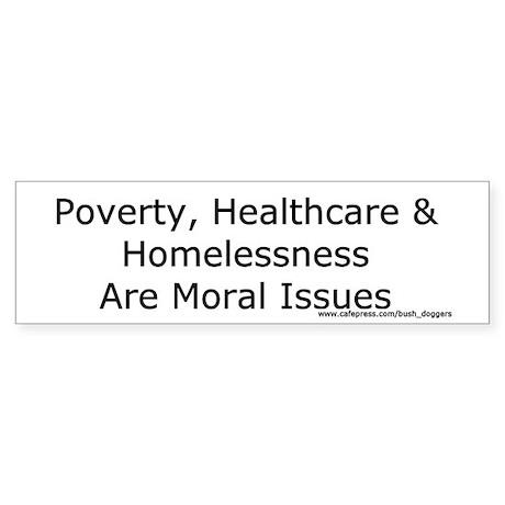 Moral Issues Bumper Sticker (white)