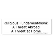 Religious Fundamentalism bumper sticker (white)