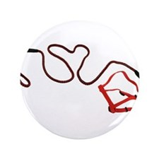 "Love Means Leash 3.5"" Button (100 pack)"