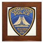 Compton Police Making It Bett Framed Tile