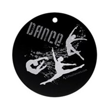 Dance (black) Ornament (Round)