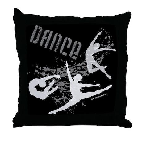 Dance (black) Throw Pillow