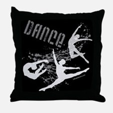 Dance (black) Throw Pillow