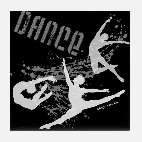 Dance (black) Tile Coaster