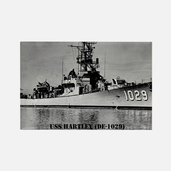 USS HARTLEY Rectangle Magnet