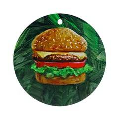 Tropical Cheeseburger Ornament (Round)